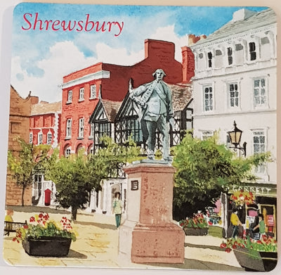 Shrewsbury Coaster - The Square Illustration