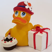 Happy Birthday Latex Rubber Duck From Lanco Ducks