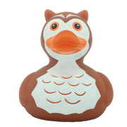 Owl Rubber Duck, brown By Lilalu
