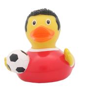 Football Player Rubber Duck, red By Lilalu