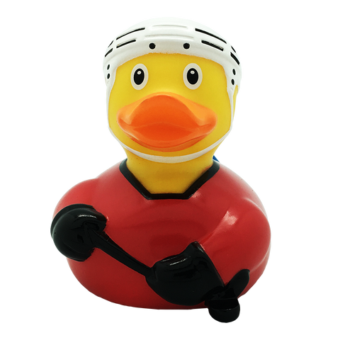 Ice Hockey Rubber Duck, red By Lilalu