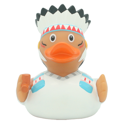 Native American Chief Rubber Duck By Lilalu
