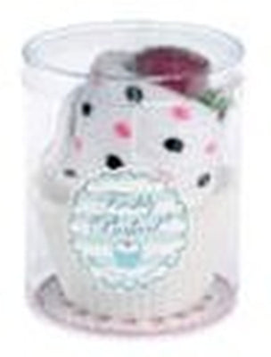 SALE : Cake Flannel & Soap Set - White with spots