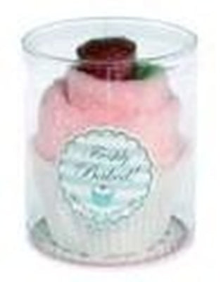 SALE : Cake Flannel & Soap Set - Baby Pink