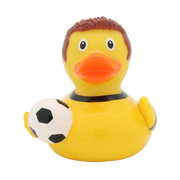 Football Player Rubber Duck, yellow-black By Lilalu