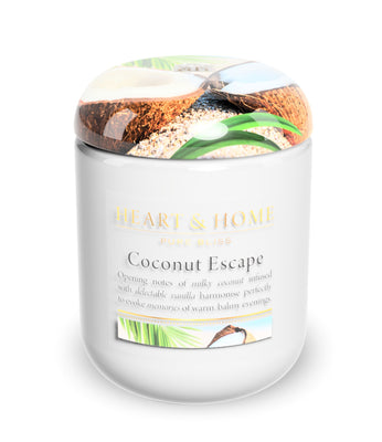 Coconut Escape - Large Candle - From Heart and Home