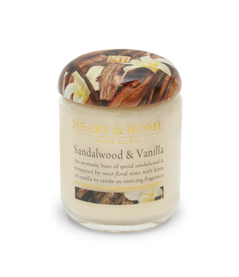 Sandalwood - Small Candle - From Heart and Home