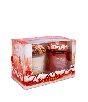 Large Jars Gift Set (Sugar & Spice & Christmas Night) From Heart and Home