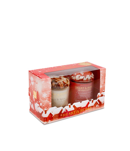 Candle Gift Pack Sets (Sugar & Spice & Christmas Night) From Heart and Home