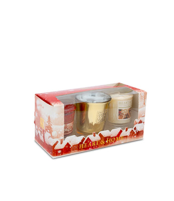 Votive Gift Pack Sets (Sugar & Spice & Christmas Night) From Heart and Home