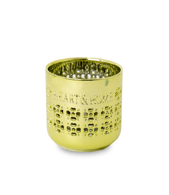 Ceramic Tealight Holder Metallic Green