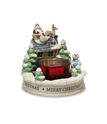 Christmas Night Resin Tealight Holder