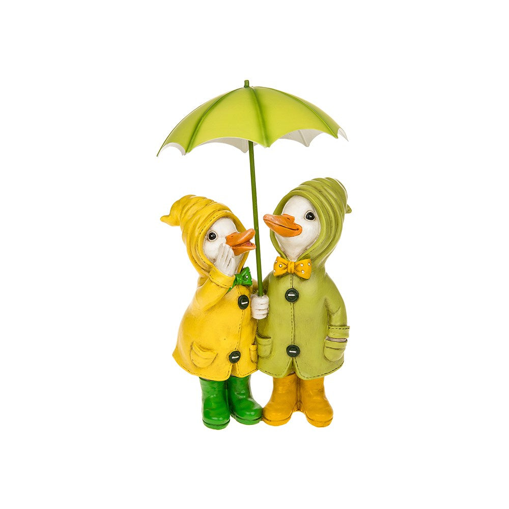 Puddle Duck Couple With Brolly