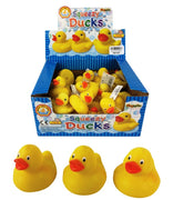 Squeezy 5cm Bathtime Ducks  - Set of 24 - Boxed - Party Bag Fillers - Novelty Rubber Ducks