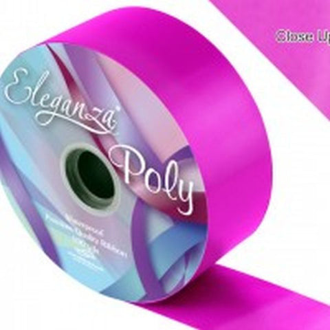 50mm Poly Ribbon - Fuchsia No.28 by Eleganza - 91m (100yds)
