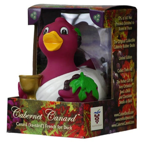 Cabernet Canard Wine Lovers RUBBER DUCK Bath Toy by CelebriDucks