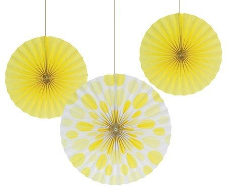 PAPER FANS 12 inch & 16 inch DOTS/STRIPES
