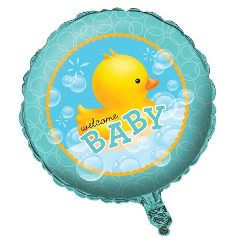 Welcome Baby 18inch Metallic Helium Balloon