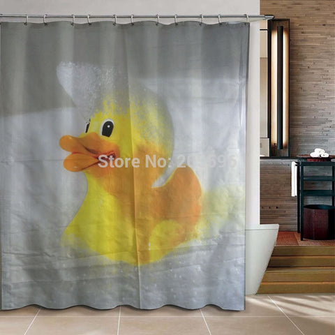 Rubber Duck Duck Shower Curtain