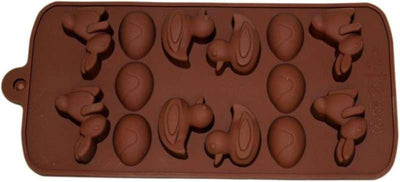 Craft Chocolate Mould - Easter Duck, Bunny and Eggs