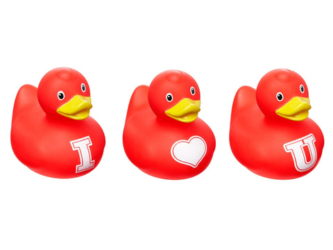 Mini Bud Designer Duck set I Heart U (3PK) by Design Room - New BNIB