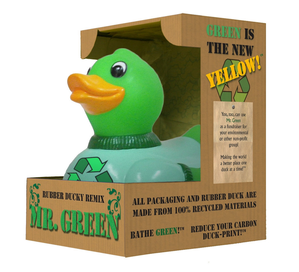 Mr Green Recycled Green Duck Rubber Duck - By Celebriducks - Limited Edition