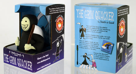 The not so Grimy Quacker - glows in the dark! Rubber Duck - By Celebriducks - Limited Edition