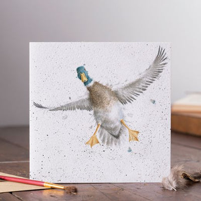 The Crash Landing Greetings Card - Wrendale Designs