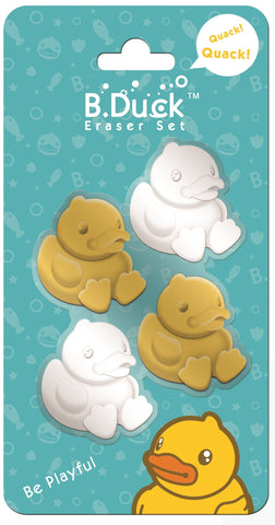 B.Duck Eraser Set