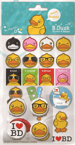 B.Duck Stickers and Badges