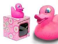 Glow in the Duck - Pink Light Up Colour Changing LED Rubber Duck from Locomocean