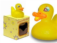 Glow in the Duck - Yellow Light Up Colour Changing LED Rubber Duck from Locomocean