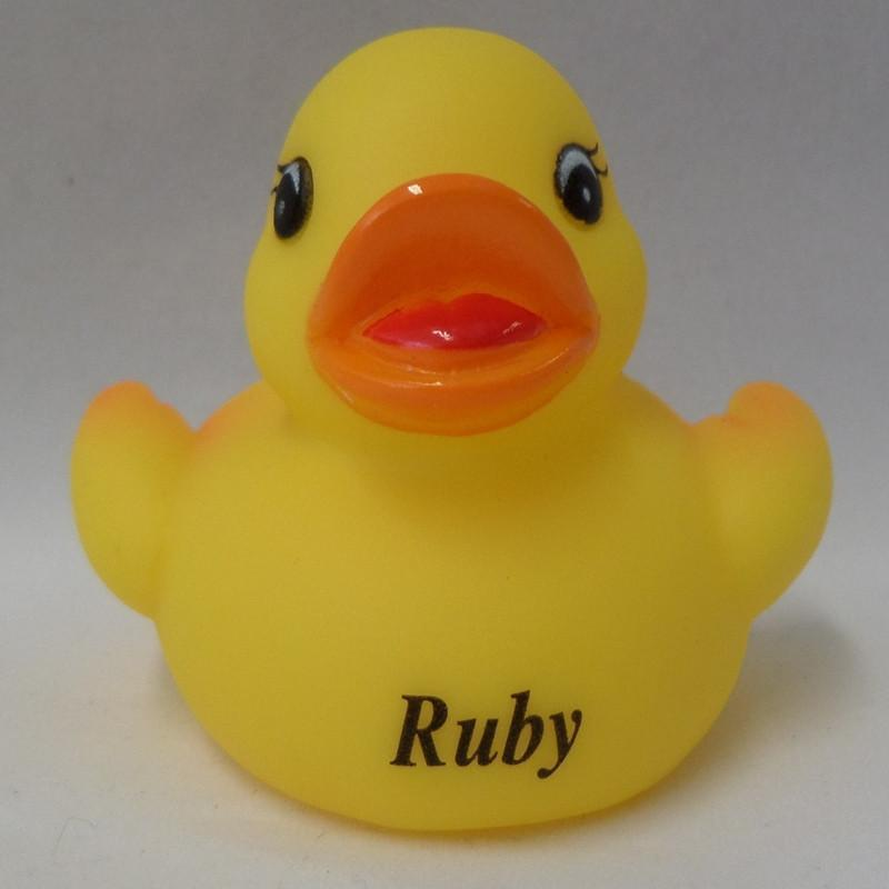 Ruby - Personalised Rubber Duck