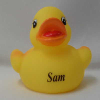 Sam - Personalised Rubber Duck