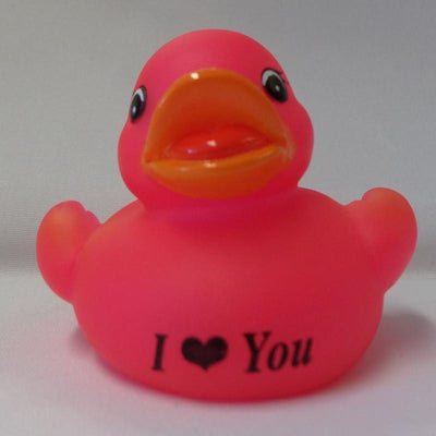 I love you - Personalised Rubber Duck