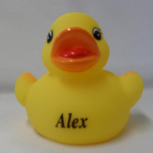 Alex - Name Printed  Rubber Duck
