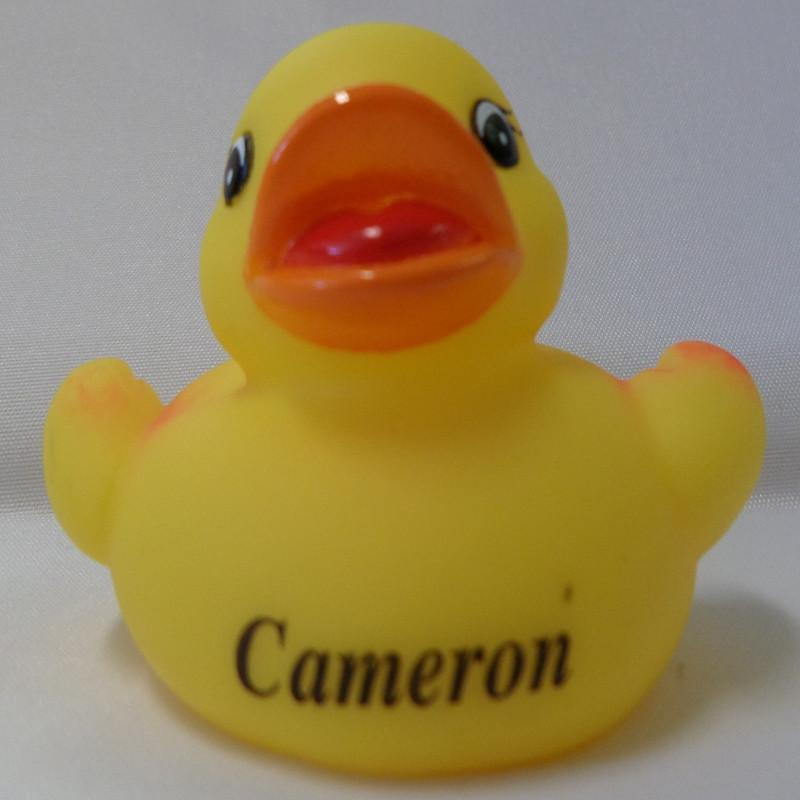 Cameron - Name Printed  Rubber Duck