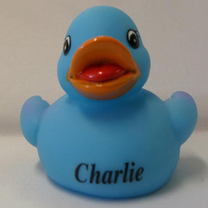 Charlie - Personalised Rubber Duck
