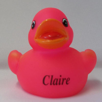Claire - Name Printed  Rubber Duck