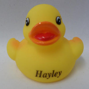 Hayley - Name Printed  Rubber Duck