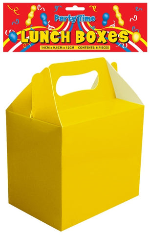 Party Time Lunch Box - Yellow 6PK