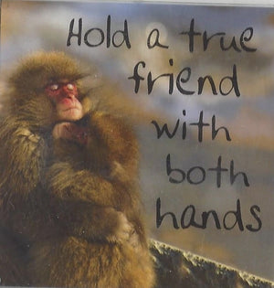 Hold a true friend with both hands