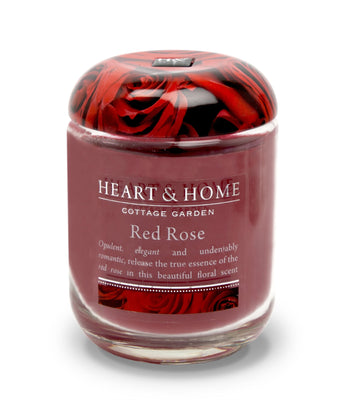 Red Rose  - Large Candle - From Heart and Home