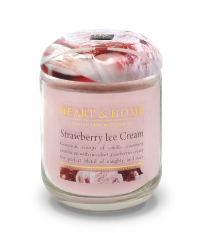 Strawberry Ice Cream - Large Candle - From Heart and Home