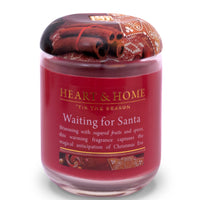 Waiting for Santa - Large Candle - From Heart and Home
