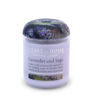 Lavender Sage - Small Candle - From Heart and Home