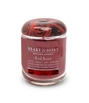 Red Rose - Small Candle - From Heart and Home