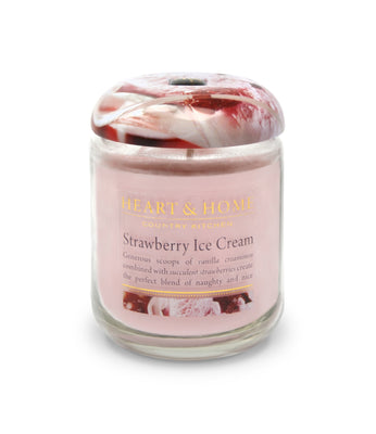 Strawberry Ice Cream - Small Candle - From Heart and Home