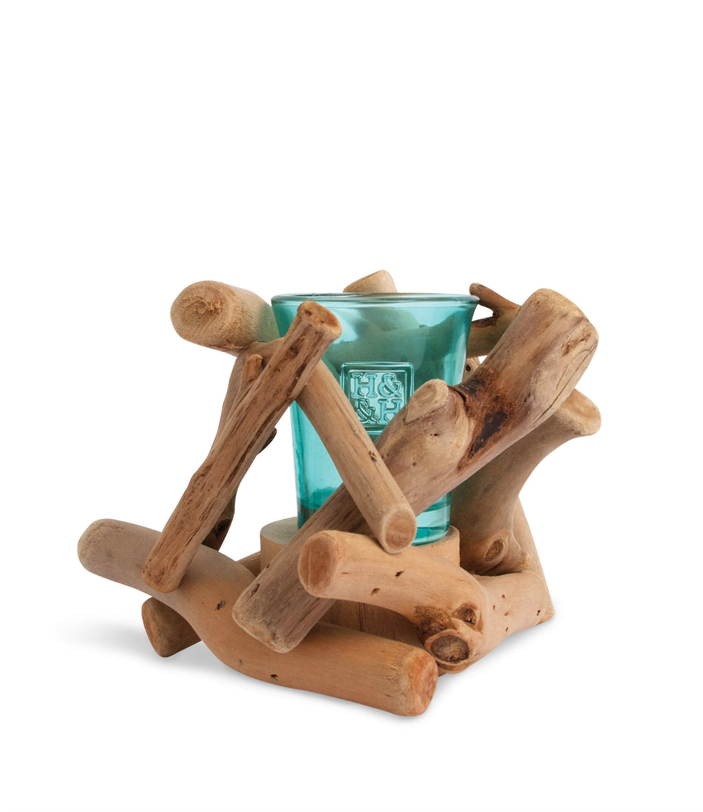 Driftwood Fire Candle Holder - From Heart and Home