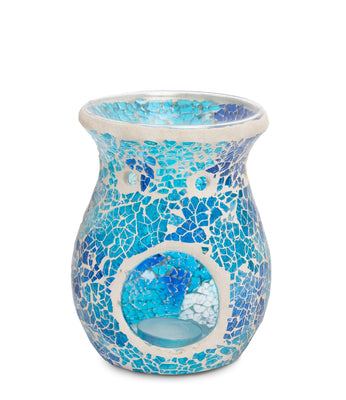 Blue Crackle Mosaic Wax Melt Burner - From Heart and Home